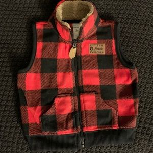 Baby Boy (9mo) Plaid Flannel Vest